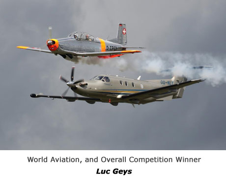 General Aviation & Executive jets registered outside the British Isles, and overall competition winner - LUC GEYS