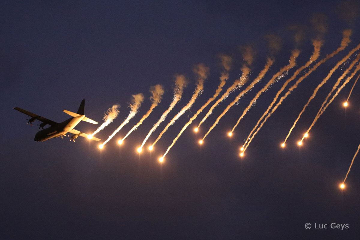 Aviation Free-For-All - Lockheed C-130 & flares by Luc Geys