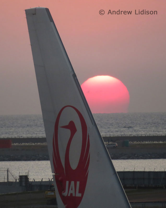 Aviation Free-For-All - Sunrise over Japan Airlines by Andrew Lidison