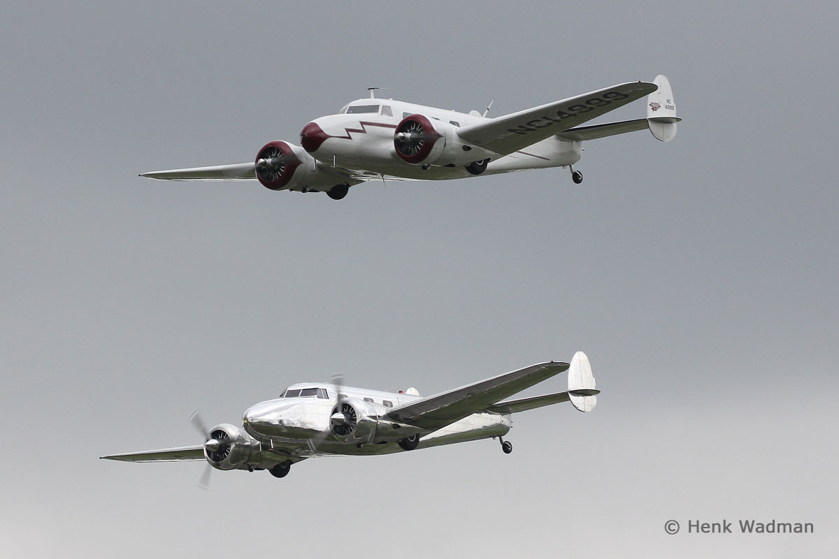 Vintage, Warbirds & Civilian-Operated Military Aircraft - Lockheed 12s (N14999 & N18130) by Henk Wadman