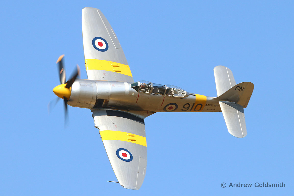 Vintage, Warbirds & Civilian-Operated Military Aircraft - Hawker Sea Fury (G-INVN (WG555)) by Andrew Goldsmith